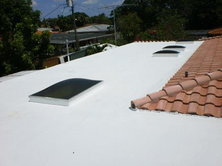 Roof Coaring On Flat Roof With Skylights