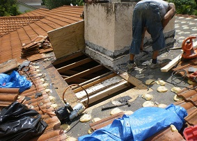 Rotten Wood Replaced On Roof Repair In Miami