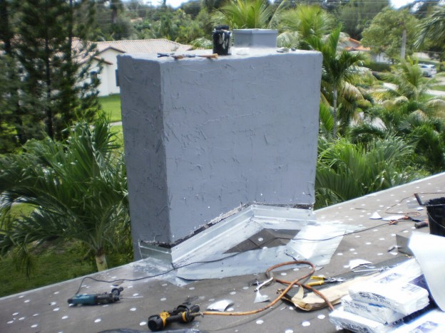 Chimney Rebuild on Shingle Roof in Miami